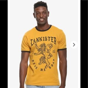 GAME OF THRONES BOXLUNCH Lannister Lion RINGER TEE